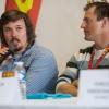 Ondřej Bank a Kryštof Krýzl během tiskové konference