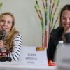 Tereza Kmochová a Klára Křížová během tiskové konference