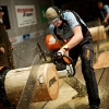 Martin Komarek (CZE) performs during the Stihl Timbersports Champions Trophy in Sankt Johann (Tyrol) today, 11th of March 2011. Free image for editorial usage only: Photo by Joerg Mitter/Global Newsroom. FOR EDITORIAL USE ONLY. NOT FOR SALE FOR MARKETING OR ADVERTISING CAMPAIGNS. For more pictures, videos and TV material go to www.global-newsroom.com. info +43 676 9364 137
