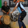 Jason Wynyard of New Zealand performs during the  Stihl Timbersports Championships 2011 in Roermond, Netherlands today on September 3rd. The event was won by Jason Wynyard of New Zealand, followed by Christophe Geissler of Switzerland and Martin Komarek of Czech Republic. Free image for editorial usage only: Photo by Andreas Schaad for Global Newsroom FOR EDITORIAL USE ONLY.  For more pictures, videos and TV material go to www.global-newsroom.com. info +43 664 380 50 53