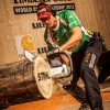 Robert Ebner of Germany performs during the Single Competition of the Stihl Timbersports World Championship in Lillehammer, Norway on September 8, 2012.