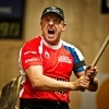 Martin Komarek of Czech Republic performs during the Stihl Timbersports World Championship in Lillehammer, Norway on September 8, 2012.