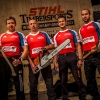 The Team of the Czech Republic poses for a photograph at the Team Qualification of the Stihl Timbersports World Championship in Lillehammer, Norway on September 7, 2012.